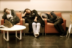 Napping-students